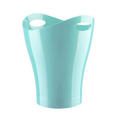 Umbra Garbino Polypropylene Waste Can, Surf Blue