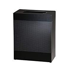 Rubbermaid Commercial Silhouettes Trash Can, 40 Gallon, Black, FGSR18EPLTBK