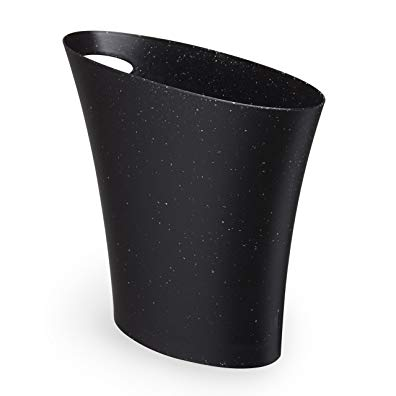 Umbra Skinny Trash Can – Sleek & Stylish Bathroom Trash Can, Small Garbage Can Wastebasket for Narrow Spaces at Home or Office, 2 Gallon Capacity, Galaxy