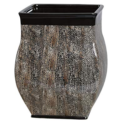 Creative Bath Products Borneo Wastebasket, Ceramic