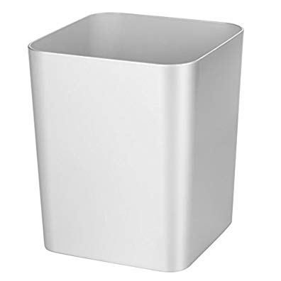 InterDesign Metro Ultra Waste Can for Bathroom; Kitchen; Home Office - Silver