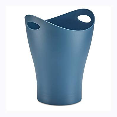 Umbra Garbino Small Trash/Waste Can – Polypropylene – Mist Blue