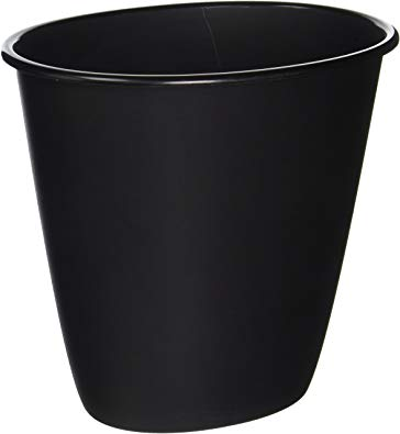 STERILITE 10119012 1.5 gallon Black Wastebasket